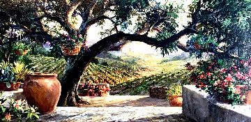 Napa Patio 31x51 Original Painting - Art Fronckowiak
