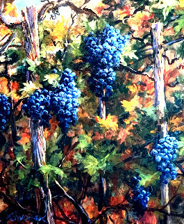 Harvest 35x31 Original Painting by Art Fronckowiak
