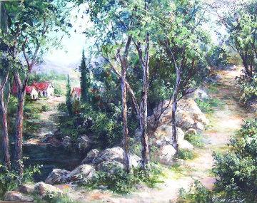 Via Albero 24x30 Original Painting by Art Fronckowiak