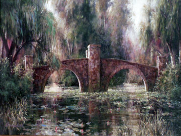 Willow Bridge 2003 Limited Edition Print by Art Fronckowiak