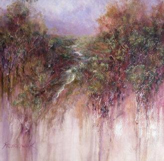 Silver Stream 36x36 Original Painting - Art Fronckowiak