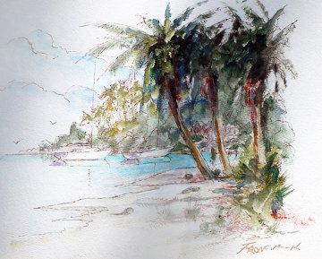Grayton Shore 2005 30x36 Original Painting by Art Fronckowiak