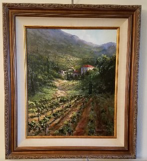 Tuscany Vineyard 2003 29x33 Original Painting - Art Fronckowiak