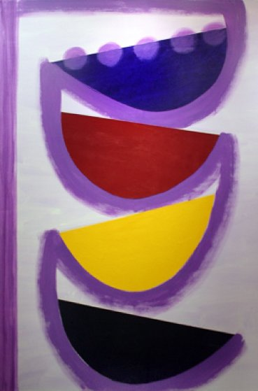 Tolcarne Rhythm 1998 81x43 Original Painting by Terry Frost