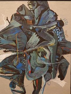 Untitled Painting 1984 46x36 Original Painting - Luigi Fumagalli
