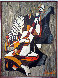 Untitled Musician 1973  49x36 Original Painting by Luigi Fumagalli - 1