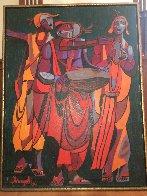 Untitled Painting 1971 38x48 Super Huge Original Painting by Luigi Fumagalli - 1
