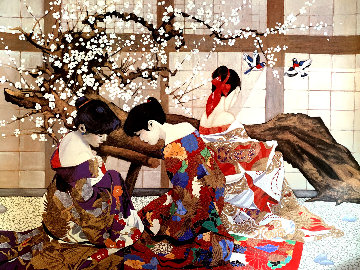 Under the Cherry Blossom Limited Edition Print - Luigi Fumagalli