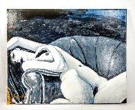 Reclining Nude 24x30 Original Painting by Luigi Fumagalli - 3