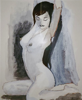 Untitled Asian Nude 2006 24x21 Works on Paper (not prints) - Luigi Fumagalli