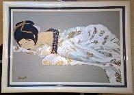 Untitled, His Wife 1980 41x30 Huge Original Painting by Luigi Fumagalli - 1