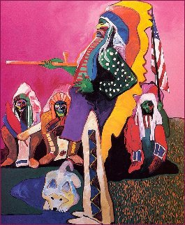 Rio With the Indians AP 1998 Limited Edition Print - Malcolm Furlow