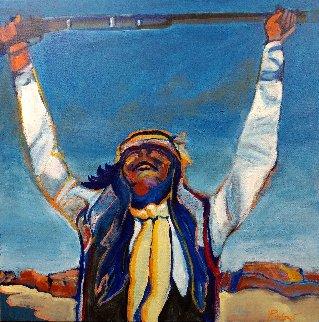 Arizona Apache 36x36 Original Painting - Malcolm Furlow