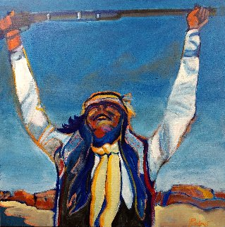 Arizona Apache 36x36 Original Painting by Malcolm Furlow