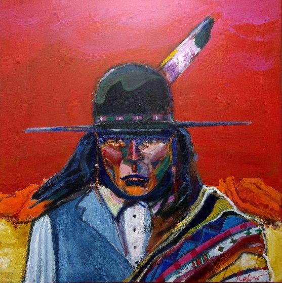 Yavapai 36x36  Original Painting by Malcolm Furlow