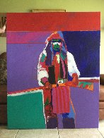 Chaco Apache 1989 56x48 Super Huge Original Painting by Malcolm Furlow - 1