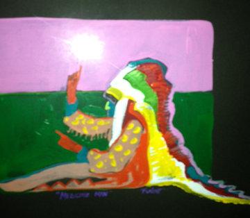 Medicine Man 24x24 Original Painting - Malcolm Furlow
