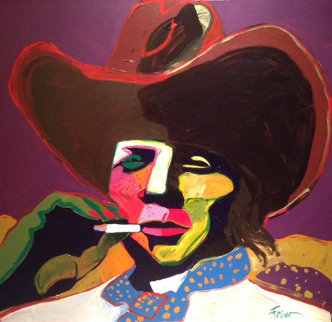 Johnny Ringo 40x40 Original Painting - Malcolm Furlow