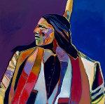 Portrait of Armani 2002 48x48 Original Painting - Malcolm Furlow