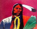 Quannah Parker 1989 42x42 Original Painting - Malcolm Furlow
