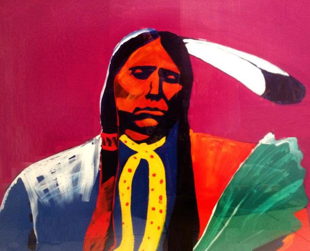 Quannah Parker 1989 42x42 Original Painting by Malcolm Furlow