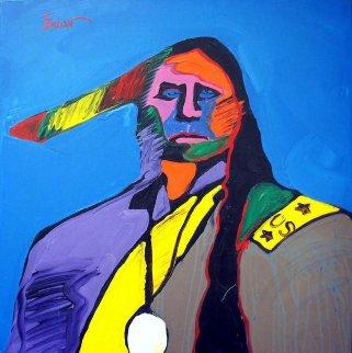 Santana II 1989 30x30 Original Painting - Malcolm Furlow
