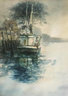 Capt Jim Watercolor 40x30 Watercolor - John Gable