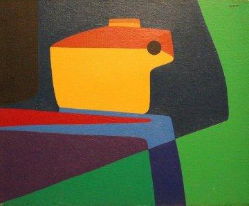Untitled Painting 1960 16x20 Original Painting - Ralph Gagnon