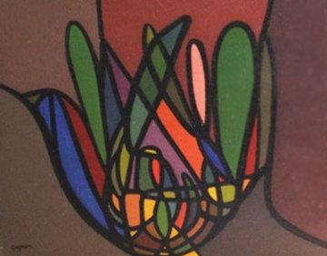 Untitled 11x14 1960 Original Painting - Ralph Gagnon