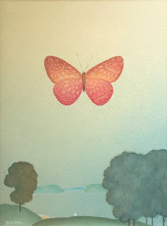 Pink Butterfly 2018 28x20 Original Painting by Igor Galanin