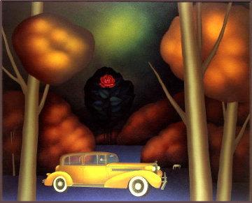 Everyone Left Forever 1990 60x70 Super Huge Original Painting - Igor Galanin