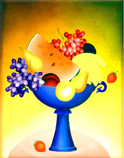 Fruit Bowl II 2000 30x24 Original Painting - Igor Galanin