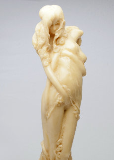 Two in Embrace Epoxy Sculpture Unique, 1984 18 in Sculpture - Frank Gallo