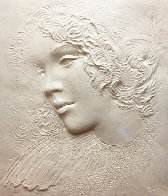 Angela Cast Paper Sculpture 1981 35 in Limited Edition Print by Frank Gallo - 0