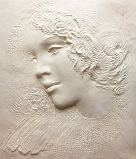 Angela Cast Paper Sculpture 1981 35 in Limited Edition Print by Frank Gallo
