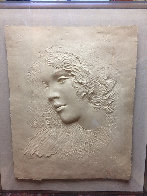 Angela Cast Paper Sculpture 1981 35 in Limited Edition Print by Frank Gallo - 4