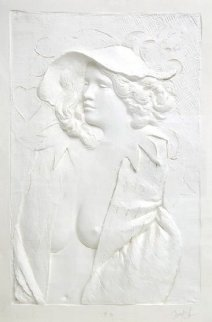 Actress Cast Paper Sculpture 1980 49x37 Limited Edition Print - Frank Gallo