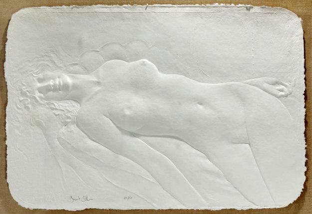 Faint Paper Sculpture 1984 Sculpture by Frank Gallo