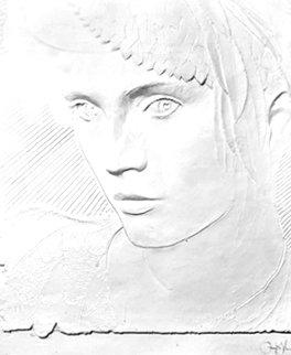 Untitled Cast Paper Sculpture  52x42 Huge Sculpture - Frank Gallo