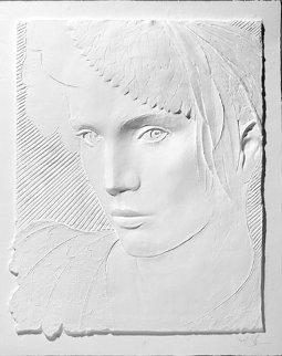 Feathered Hat AP Cast Paper Sculpture  Sculpture - Frank Gallo