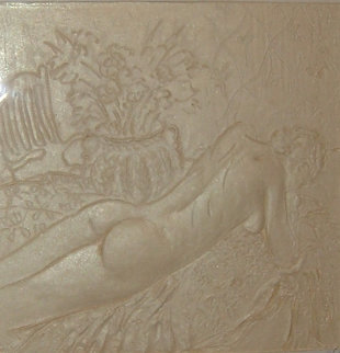 Reclining Nude Cast Paper Sculpture 1995 Sculpture - Frank Gallo