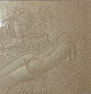 Reclining Nude Cast Paper Sculpture 1995 Sculpture - Frank Gallo