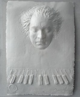 Beethoven Foundation Cast Paper  Sculpture 1985 Sculpture by Frank Gallo