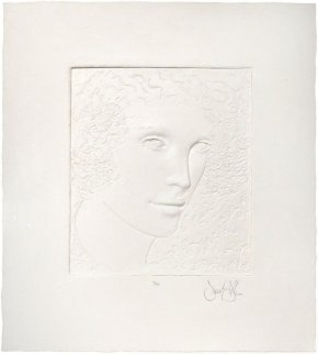 Untitled Girl Cast Paper 1980 Sculpture by Frank Gallo
