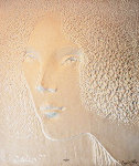Face Cast Paper 48x38 Limited Edition Print - Frank Gallo