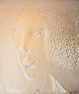 Face Cast Paper 48x38 Limited Edition Print by Frank Gallo