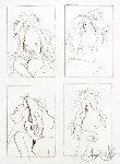 Four Windows Drawing 1980 25x20 Drawing - Frank Gallo