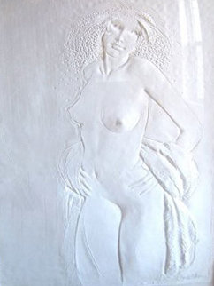 Dancer Cast Paper Sculpture 1978 Sculpture by Frank Gallo