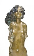 Young Girl Bronze Unique Sculpture 1971 16 in Sculpture by Frank Gallo - 3