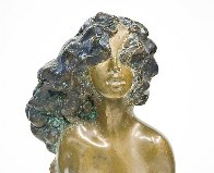 Young Girl Bronze Unique Sculpture 1971 16 in Sculpture by Frank Gallo - 4